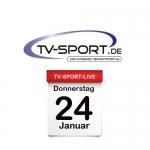Das TV-Sport Tagesprogramm am Donnerstag, 24.01.2019