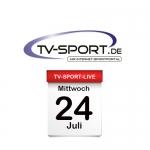 Das TV-Sport Tagesprogramm am Mittwoch, 24.07.2019