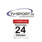 Das TV-Sport Tagesprogramm am Donnerstag, 24.10.2019
