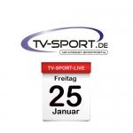 Das TV-Sport Tagesprogramm am Freitag, 25.01.2019