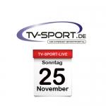 Das TV-Sport Tagesprogramm am Sonntag, 25.11.2018
