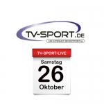 Das TV-Sport Tagesprogramm am Samstag, 26.10.2019