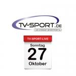 Das TV-Sport Tagesprogramm am Sonntag, 27.10.2019