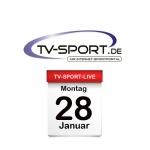 Das TV-Sport Tagesprogramm am Montag, 28.01.2019