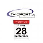 Das TV-Sport Tagesprogramm am Freitag, 28.09.2018