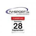 Das TV-Sport Tagesprogramm am Samstag, 28.09.2019
