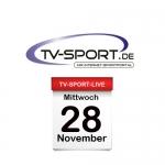 Das TV-Sport Tagesprogramm am Mittwoch, 28.11.2018