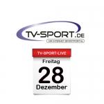 Das TV-Sport Tagesprogramm am Freitag, 28.12.2018