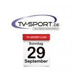 Das TV-Sport Tagesprogramm am Sonntag, 29.09.2019