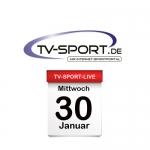 Das TV-Sport Tagesprogramm am Mittwoch, 30.01.2019