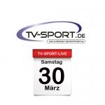 Das TV-Sport Tagesprogramm am Samstag, 30.03.2019