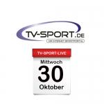 Das TV-Sport Tagesprogramm am Mittwoch, 30.10.2019